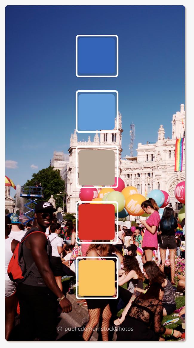 Los colores de madrid paleta de colores de esta ciudad