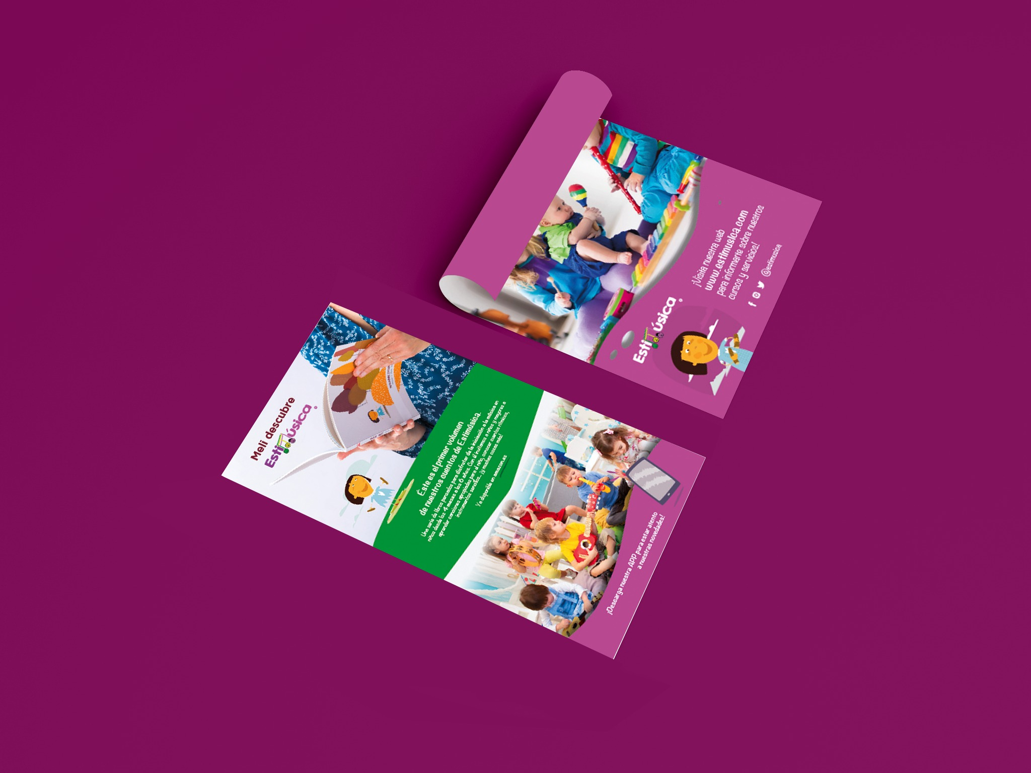 Rollup para feria de stand exposición firma pendon material diseño grafico madrid