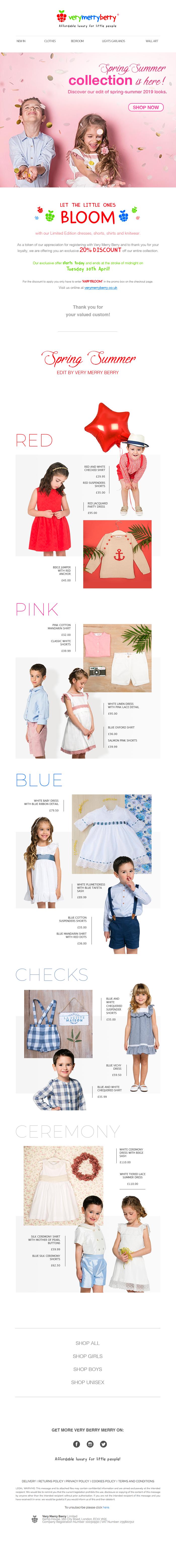 newsletter very merry berry look book moda niños